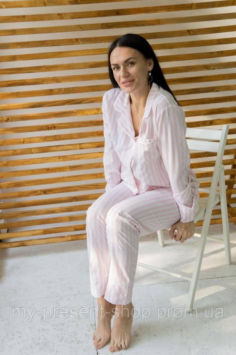 Пижамы женские Украина Розовая полоса (S-L)