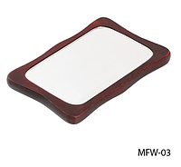 Зеркало косметическое на деревянной основе прямоугольное Lady Victory ( 12,7 × 8 cм.) LDV MFW-03 /88-0