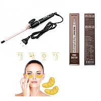 Плойка для завивки волос афрокудри Gemmy подарок Карандаш для бровей и Маска для кожи вокруг глаз SKL11-277575