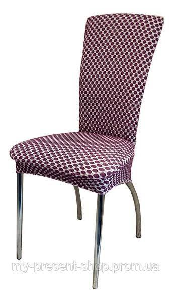 Чехлы на стулья Турция Соты Фиолетовый