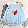 Красивый женский пуловер с сердцем 44-48 (в расцветках), фото 8