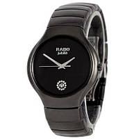 Женские наручные часы в стиле Радо Jubile с керамическим браслетом Черные