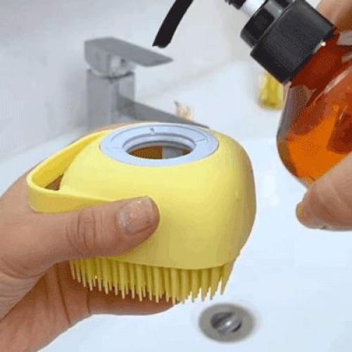 Силиконовая мочалка-щетка Silicone Massage Bath Brush