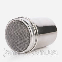 Емкость для корицы, кофе, шоколада и т.д. - высота 7см, диаметр 5см, метал