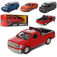 Машина AS-2332 АвтоСвіт, мет., інерц., відчин.двері, гум.колеса, 4 види, кор., 16.5-7-7 см.