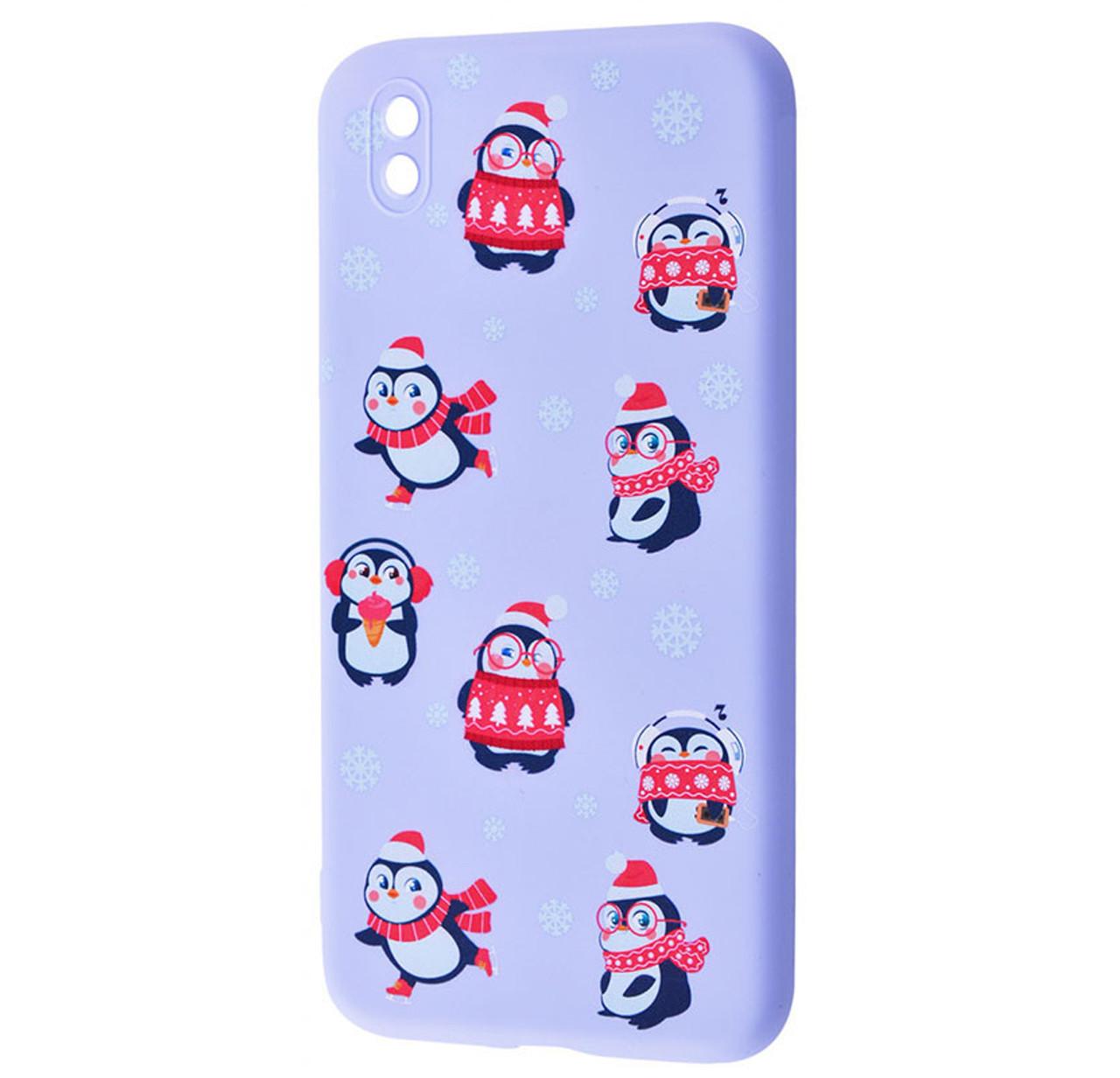 Чехол-накладка TPU WAVE Fancy Case для Samsung Galaxy A01 Core SM-A013F Light Purple (Penguins)