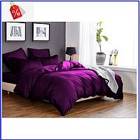 """Семейный комплект постельного белья модный практичный качественный из Бязи """"Голд"""" Ранфорс Фиолетовый"""