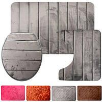 Набір килимків для ванної кімнати 3пр/наб 50*80/50*40/43*36см R82473 (25наб)