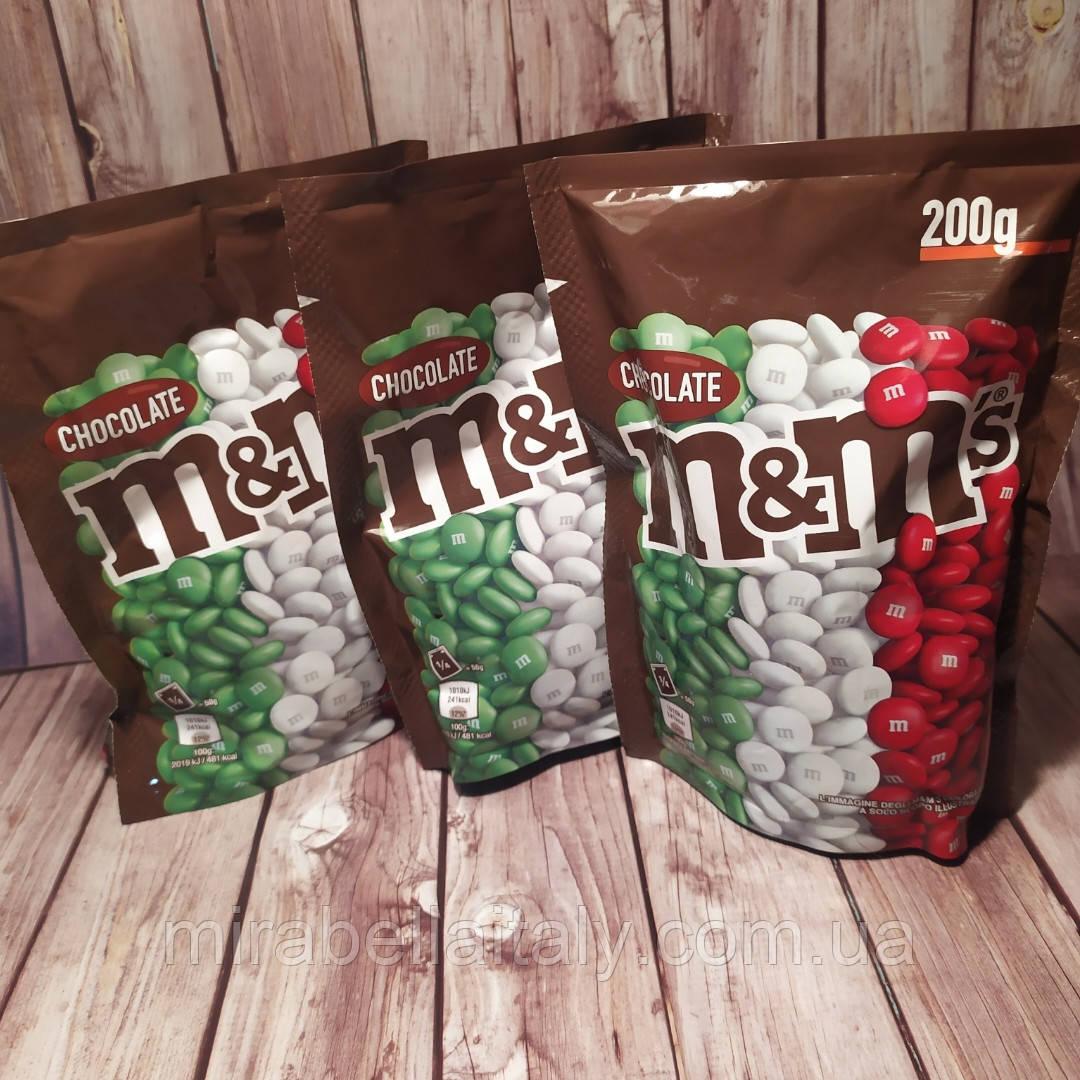 Драже шоколад M&M 200 грамм.Италия