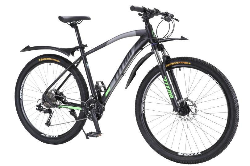 """TitanBike Велосипед Titan X10 29"""" 19"""" Черный-Зеленый"""