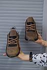Підліткові кросівки шкіряні весна/осінь оливкові Khaki (37,38,39 розм), фото 3