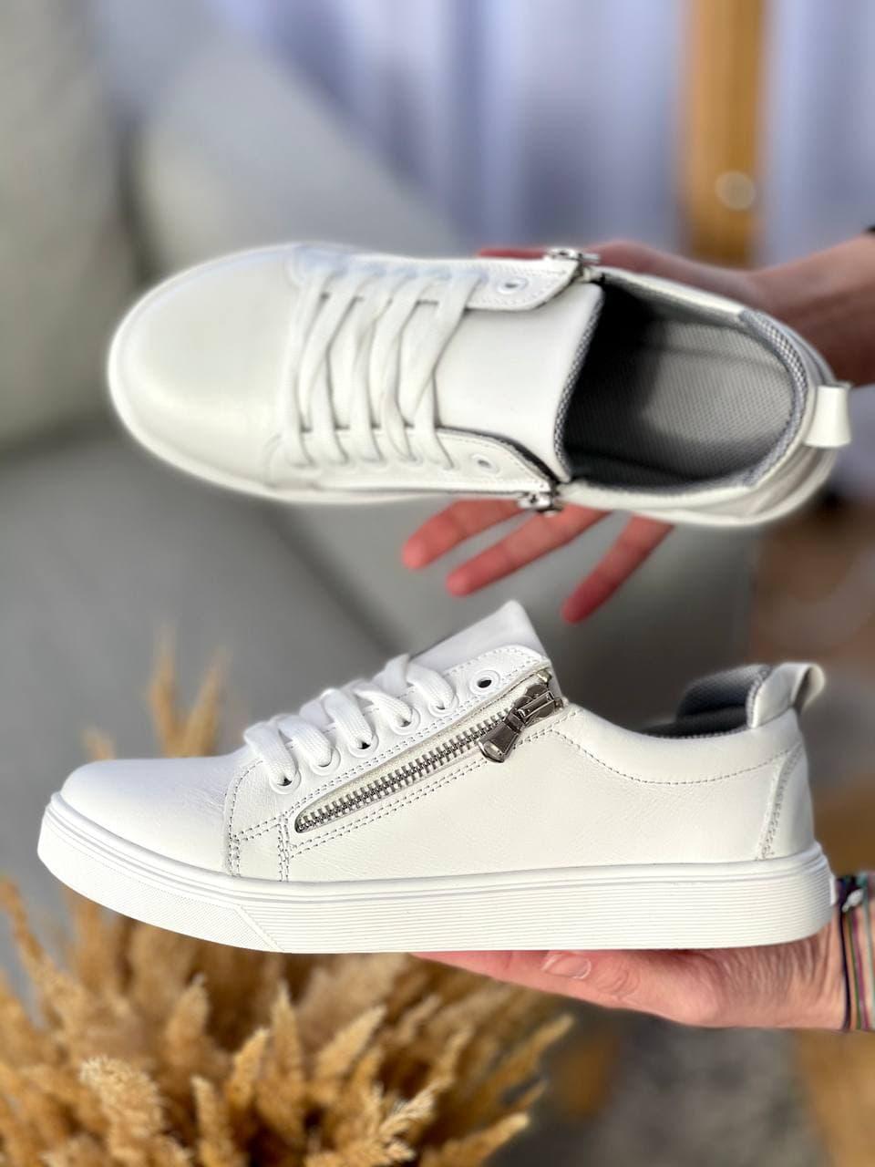 Подростковые кеды кожаные весна/осень белые Emirro White (36,37 разм)