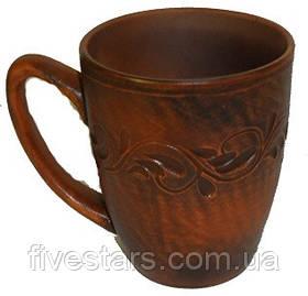 Чашка чайная глиняная вьюнок 300 мл