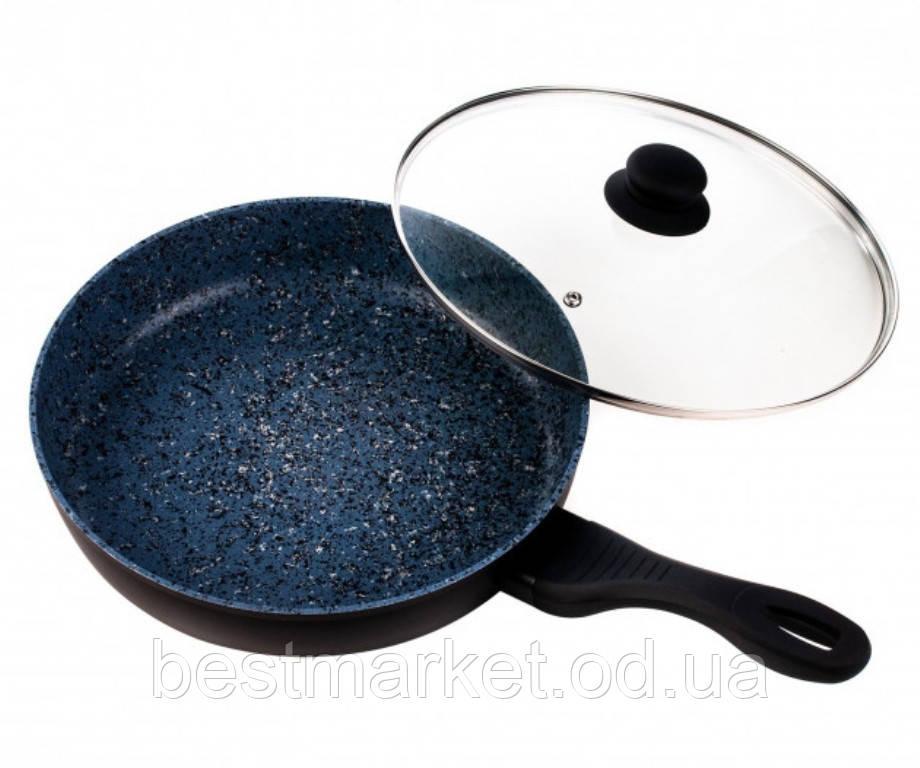 Сковорода з Кришкою і Гранітним Покриттям 26 см German Family GF-050GC-26