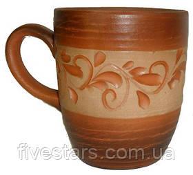 Чашка чайная глиняная    ангоб 300 мл