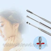 Инструменты для чистки ушей косметологические профессиональные (набор 6 предметов+футляр), фото 3