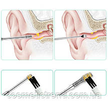 Инструменты для чистки ушей косметологические профессиональные (набор 6 предметов+футляр), фото 2