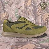 Кросівки Pantherа олива нубук 3D-сітка Airmesh, фото 3