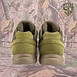 Кросівки Pantherа олива нубук 3D-сітка Airmesh, фото 6