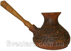 Турка с деревянной ручкой декор