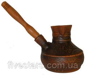 Турка кофе (средняя)с деревянной ручкой