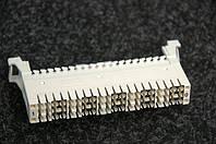Плінт, білий QDF-E1P на 10 пар (з шиною заземлення)