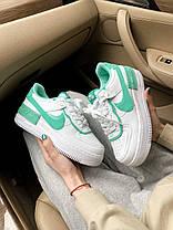 Женские кроссовки Nike Air Force 1 Shadow White Green, фото 3