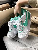 Женские кроссовки Nike Air Force 1 Shadow White Green, фото 2