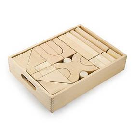 Дерев'яні будівельні кубики Viga Toys незабарвлені, 48 шт. (59166)