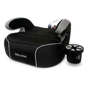 Автокресло бустер Welldon Penguin Pad (черный) PG08-P02-001 | детское автомобильное кресло, от 4 лет