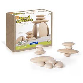 Набір дерев'яних блоків Guidecraft Natural Play Округлі камінці (G6771)