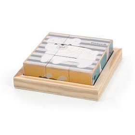 Дерев'яні кубики-пазл Viga Toys PolarB Звірята (44024)