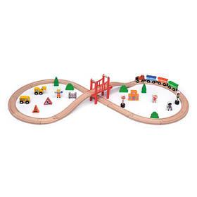 Дерев'яна залізниця Viga Toys 39 ел. (50266)