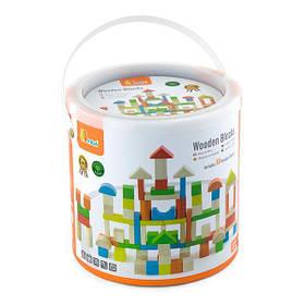 Дерев'яні кубики Viga Toys Кольорові блоки, 80 шт., 2,5 см (50333)
