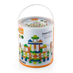 Дерев'яні кубики Viga Toys Велике будівництво, 100 шт., 2,5 см (50334)