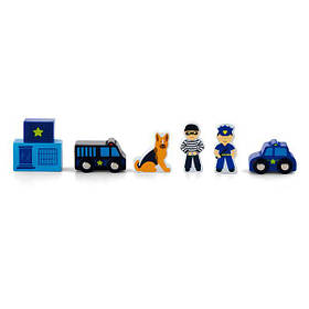 Набір для залізниці Viga Toys Поліцейську ділянку (50814)