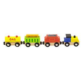 Набір для залізниці Viga Toys Вантажний потяг з пальним (50820)