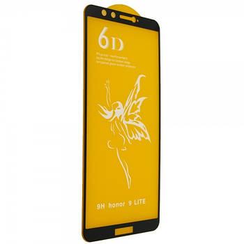 Защитное стекло 6D Premium-Honor 9 Lite-чёрный