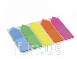 Стікер-закладка NV-76210 45*12мм 25шт.,пластик, неон, стрілка (12/1440) (NAVIGATOR