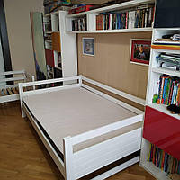 """Односпальная кровать """"Тахта"""" - Филипп белая, массив ольхи"""