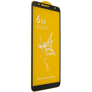 Защитное стекло 6D Premium-Samsung J4/J6-чёрный