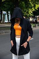 Кардиган женский черный мантия накидка летняя