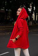 Кардиган женский красный мантия накидка летняя