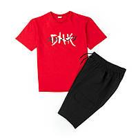 Набор футболка красная DNK MAFIA + шорты черные