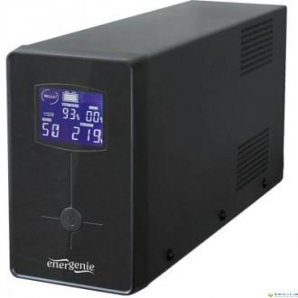 ДБЖ EnerGenie EG-UPS-033 1200VA, Line Int., AVR, 3xIEC+2xSchuko, USB, LCD, RJ11