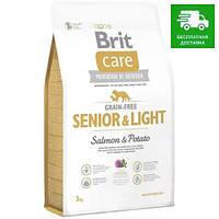 132733 Brit Care Grain-free Senior & Light Salmon, 12 кг