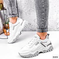 Кроссовки женские Ordo белые + серые 3008, фото 1