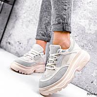 Кросівки жіночі Nouela беж+ сірий 3018