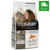 Pronature Holistic Dog Adult All Breeds Indoor & Outdoor с индейкой и клюквой, 13,6 кг