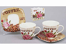Кофейный сервиз 4пр.: 2 чашки 2 блюдца 541-137 ТМ BONADI